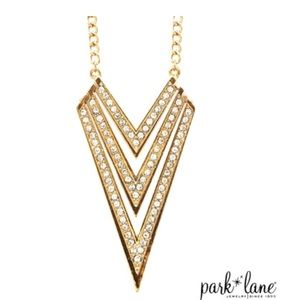 Venture necklace Park Lane - gold and crystal
